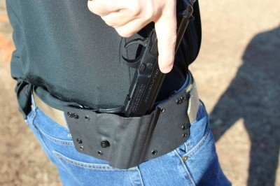 And it holsters just as easily.