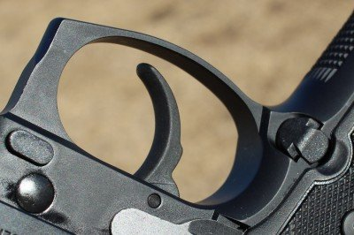 The trigger guard has a slight corner for those who like to grip there with the support hand.