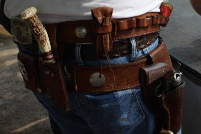 The old-school battle belt: truly customized to the shooters needs.