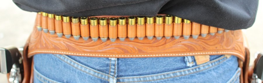 Hornady .45 Colt tucked into the cartridge loops.