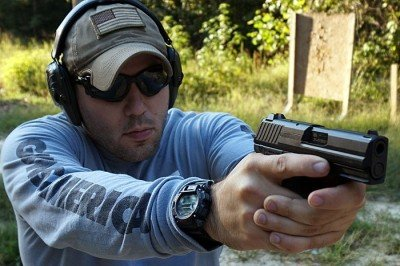 The P200sk shoots flat, thanks in part to the deceptive mass of the pistol.