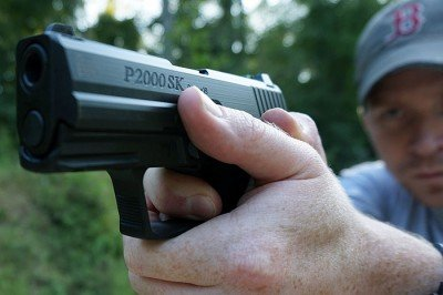 The P2000sk is a small gun that presents like a much larger pistol.
