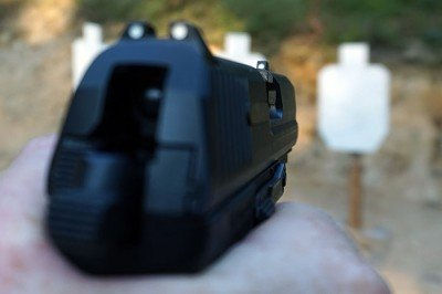 While it isn't geared toward paper-punching accuracy, it is hell on steel targets. Fast form the holster and easy to manipulate--what else could you ask for?