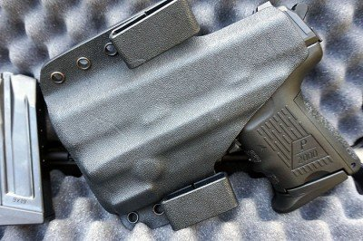 The back of the modified Multi Holster.