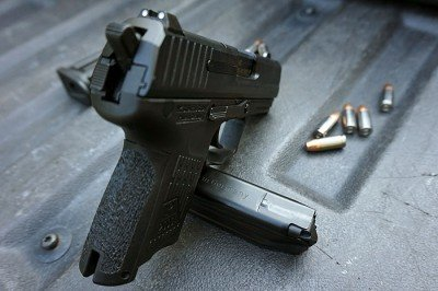 The gun comes with low profile 3 dot sights.