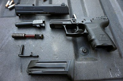 The P2000sk broken down. While the gun is more expensive than some of its competitors, it is built robustly.