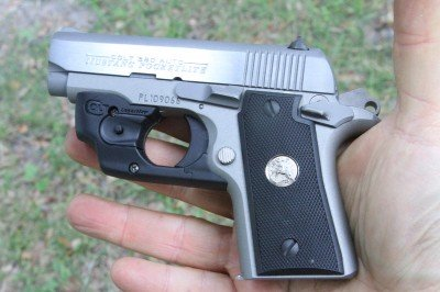 The Colt Mustang Pocketlite is today's version of the original pocket pistol, 1911 style. This version comes with a LaserMAX Centerfire laser on it, and that laser is also available to buy for your existing Mustang.