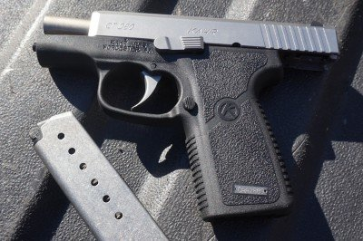 The only obtrusive element on the Kahr CT 380 is the slide stop, and it not going to catch on anything.