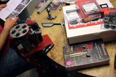 If you've never played with reloading, it can be a challange. The set up of a good press is the perfect way to spend a Saturday inside. Here, we're working with a Hornady Lock and Load AP. More on that, soon.