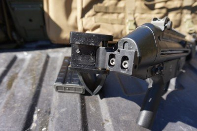 With Atlantic's folding stock adapter, the gun becomes even more versatile.