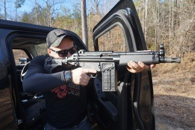 As far as truck guns go, this is a beast. It is short enough to move in the cab, and more range than a pistol caliber carbine.