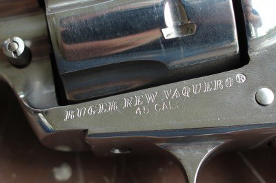 The engraving on the Vaquero.