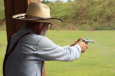 Most of the guys at the club were over 60--some were well over 60, but there isn't an age requirement. Anyone can shoot.