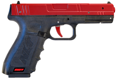 The red slide on the SIRT from NLT is a good way to ensure you are dry firing the right gun.