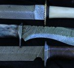 Damascus knives are nothing like what you would associate with Damascus shotguns. The patterns are heavier, and these days made from forge welding several types of steel together.