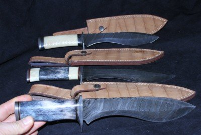These three Kukri-Bowie concoctions were $190 total including shipping, and I didn't have to make an offer.
