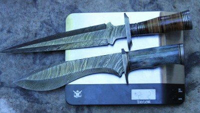 For example, these two knives are over a pound each, compared to less than two pounds for the other three.