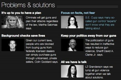 Editorials in CNN's Guns Project.  (Photo: CNN)