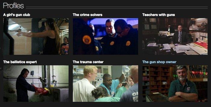 Profiles in CNN's Guns Project.  (Photo: CNN)