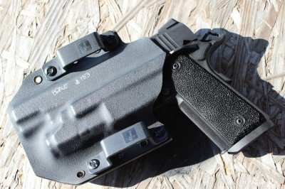 The backside of the Bravo Concealment holster.