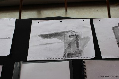 An early concept drawing of the safe.