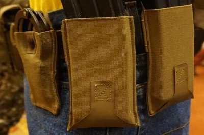 The body of the pouches is military grade elastic. The rest is ULTRAcomp.