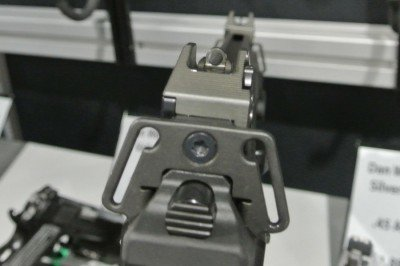 The rear sight on the Bren.