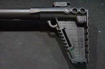 The stock is adjustable for length of pull and gives you options for mounting a sling.