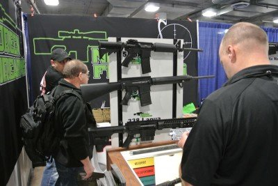 They had rifles at the booth too.