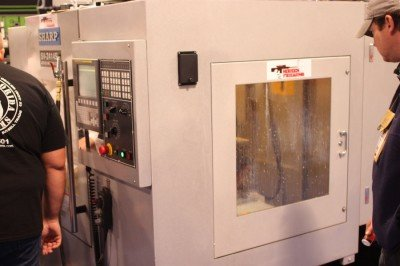 CNC Machine on the SHOT Show floor!