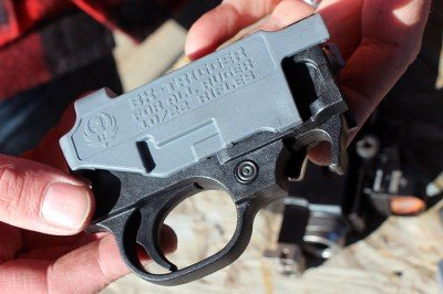 The BX-Trigger. The grey part comes off before you install the trigger, it is there to let you dry fire.