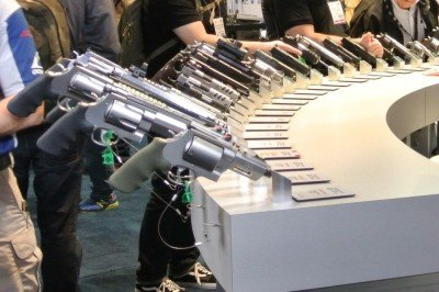 Some of the Smith and Wesson Performance Center guns at SHOT Show