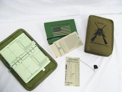 These are some examples of the data management tools available to the shooter.  The data books, FDAC, and Mildot Master  can all be used to work out a ballistic solution to a target.