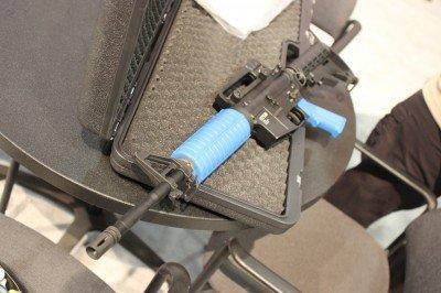 The T4E carbine.