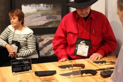 Knife maker CCCC has brought some of his designs to White River for them to produce.