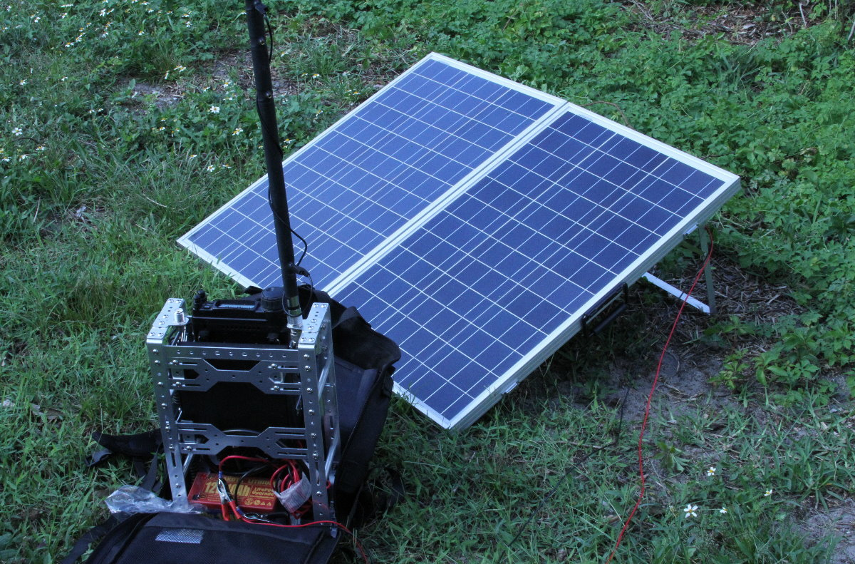 I tried to power the 857D directly from a solar panel but it didn't work.