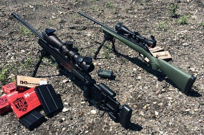 The Ruger American rifle Predator holding its own in some tough company. Foreground is PWS MK3 with Vortex Razor HD.