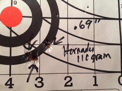I also got some great results with Hornady's 110 grain V-Max load.