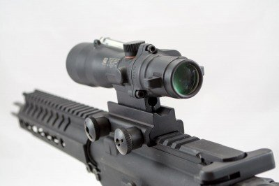 I found that the higher mount optics like this Trijicon were just right.