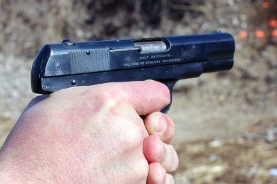 The 1903 Pocket Hammerless feels good in your hands.