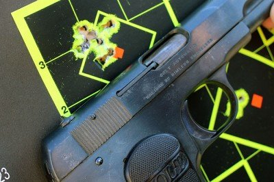 Not too shabby for a 99 year old pistol from 15 yards.