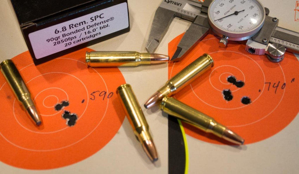 Accuracy was great with all groups coming in at less than one inch at 50 yards, with most closer to 1/2 inch for 5 shots.