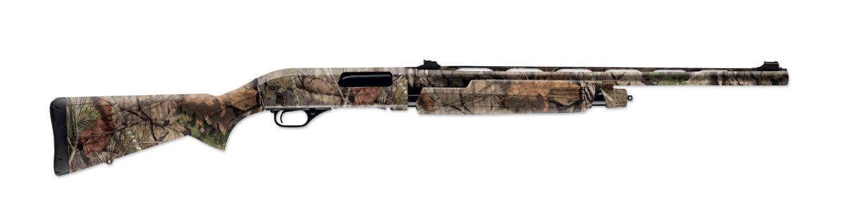 Winchesters pump turkey gun points like a rifle.