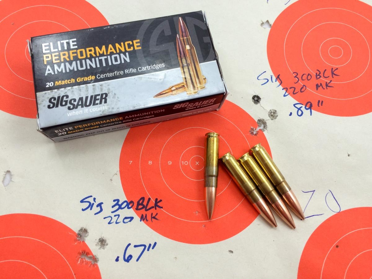 We Test Sig Sauer's New 300 Blackout Match Subsonic Ammo