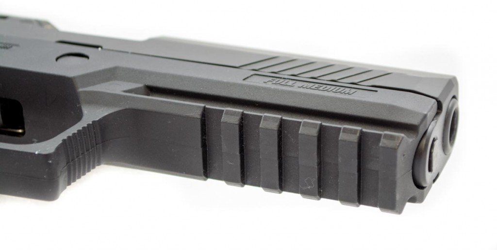 The full size grip module offers a spacious M1913 rail for accessories