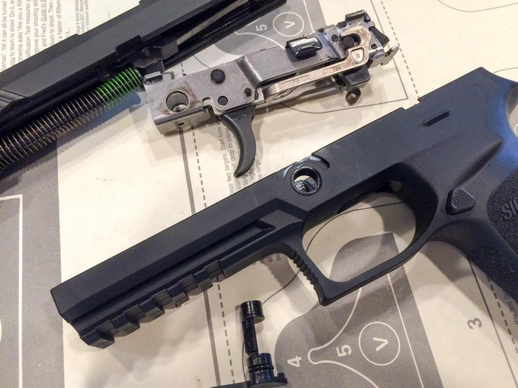 The frame of the P320 is actually the fire control assembly, which the grip module is an inserialized part.