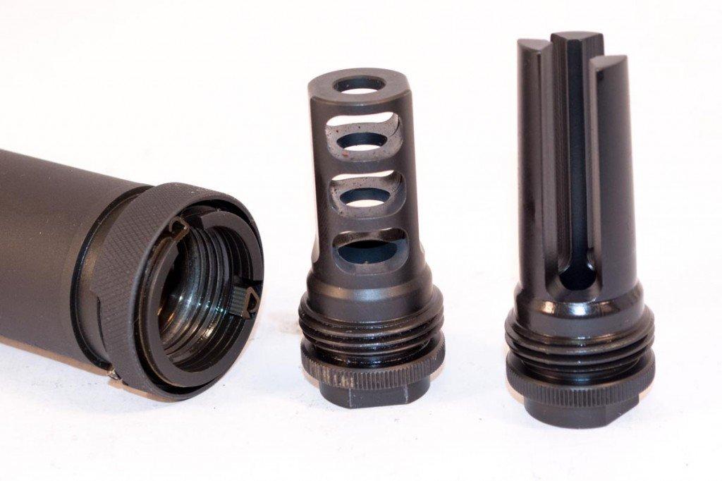 You can order extra Trifecta flash hiders or muzzle brakes for each rifle on which you want to use the Specwar.