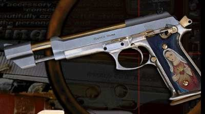 A highly modified Taurus PT99 from Romeo and Juliet.
