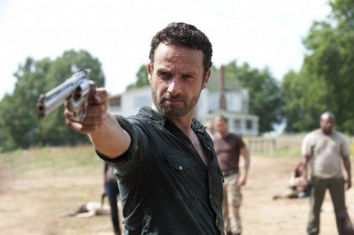 Rick Grimes loves his trusty Colt Python.  But I'm not so sure It's the perfect gun to get the job done.  (Photo: AMC)