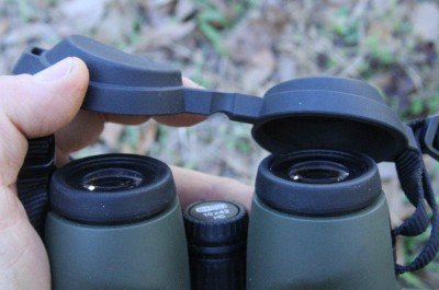 The rubber front lens cover that comes with Meostars can be threaded onto the strap.